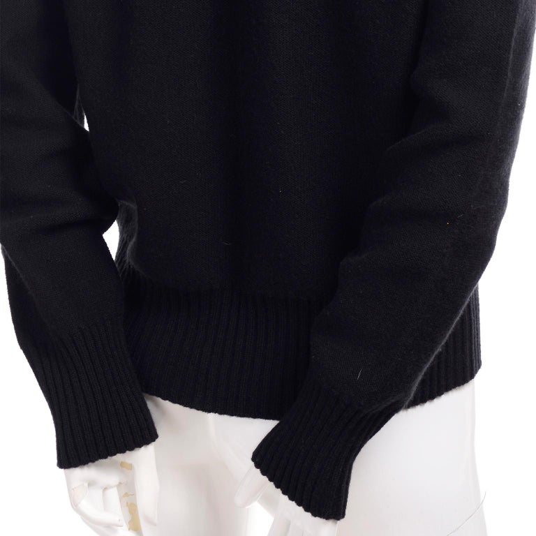 1980s Sonia Rykiel Vintage Black and Red Kiss Sweater in Angora Wool Blend For Sale 1