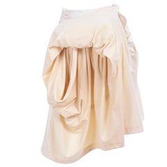 Comme De Garcons Ivory Velvet & Cotton Avant Garde Skirt 2003