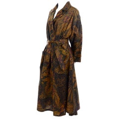 Vintage Salvatore Ferragamo Jungle Print Swing Style Raincoat