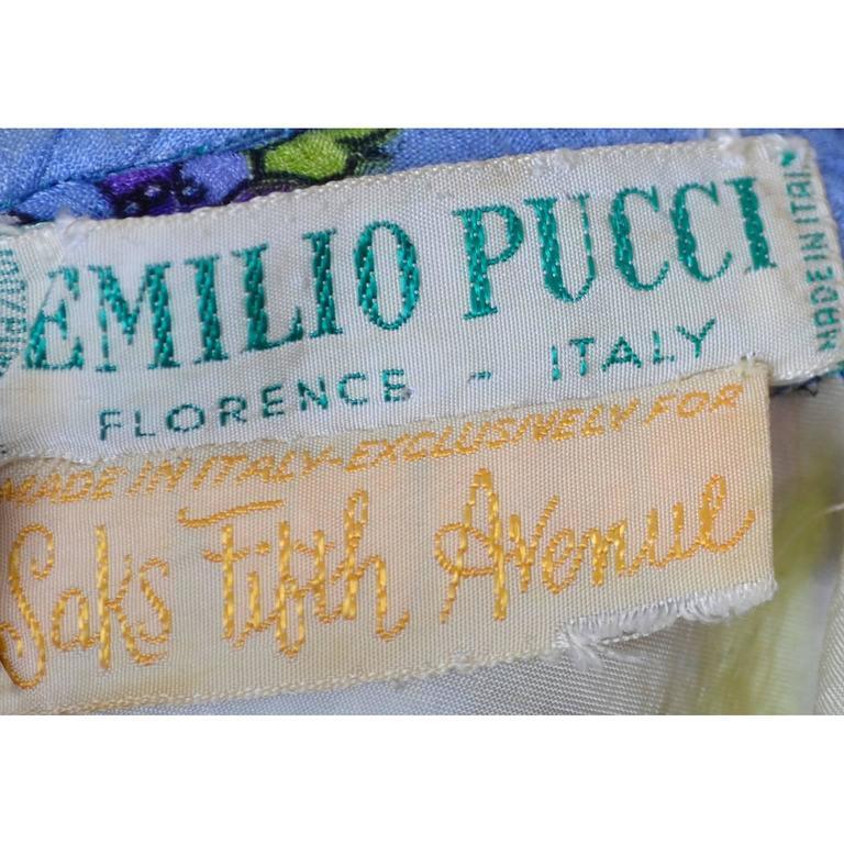 1960s Vintage Emilio Pucci Crinkle Silk Dress Signature Pop Art Mod Fabric For Sale 4