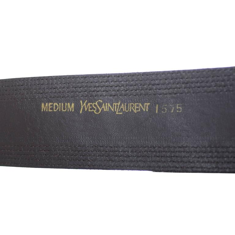 Vintage YSL belt Yves Saint Laurent Burgundy Suede Size Medium  3