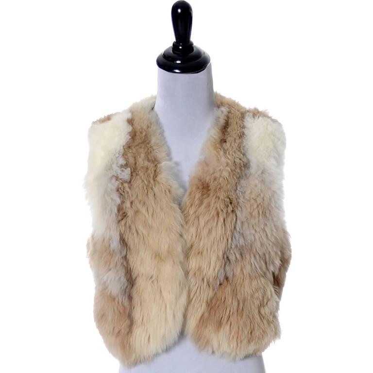 Vintage 1970s Alpaca Fur Vest Highlands Alpaca Furs Lined 2