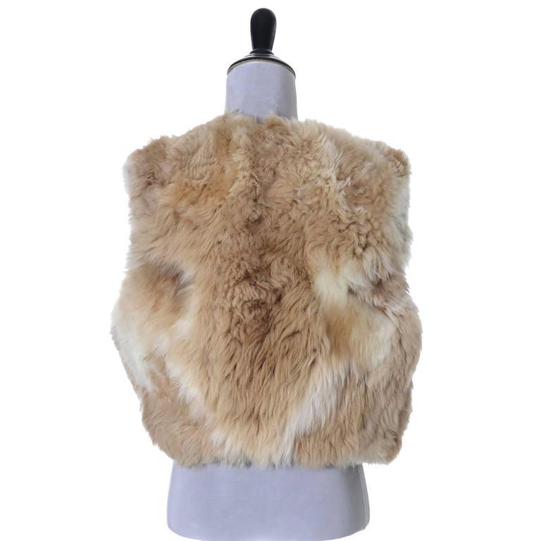 Vintage 1970s Alpaca Fur Vest Highlands Alpaca Furs Lined 3