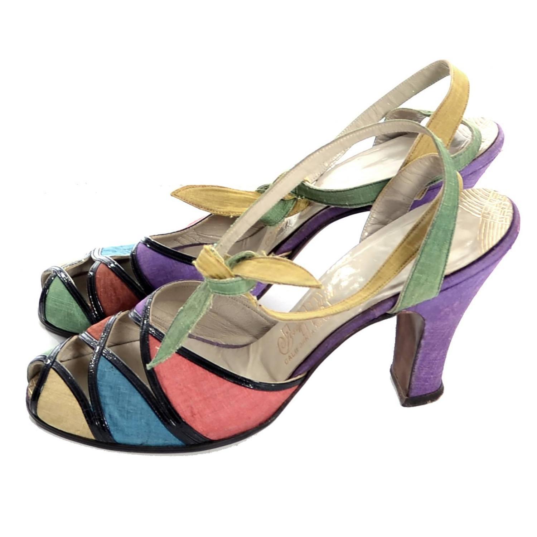 Vintage Ankle Strap Heels