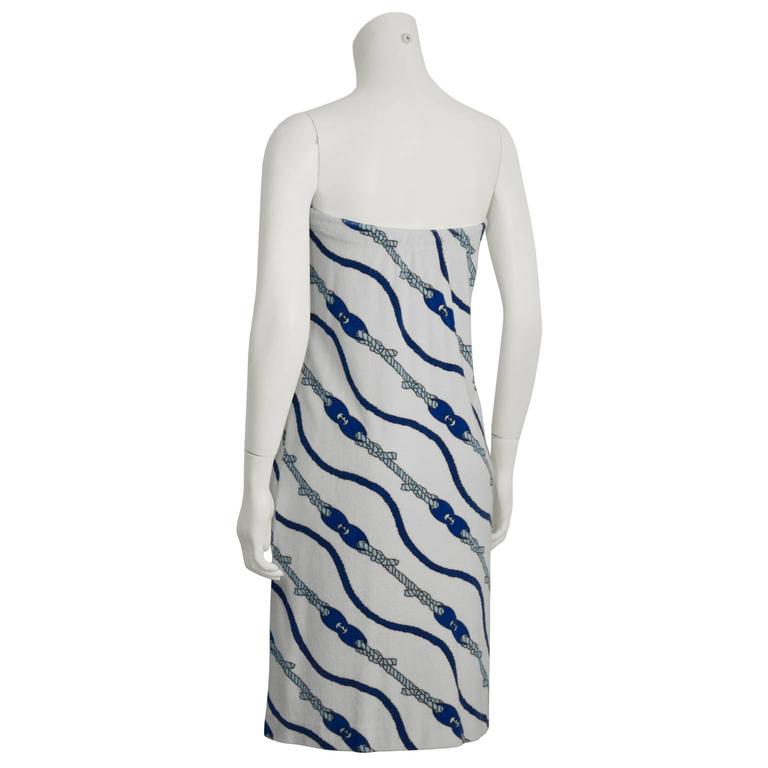 Gray 1970's Gucci Terrycloth Beach Cover-up  For Sale