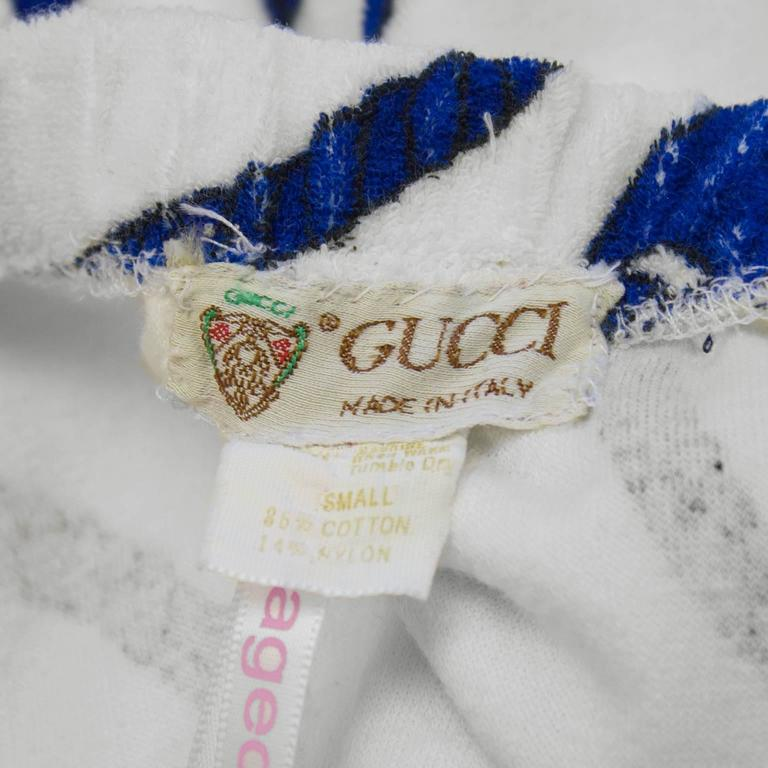 Women's 1970's Gucci Terrycloth Beach Cover-up  For Sale