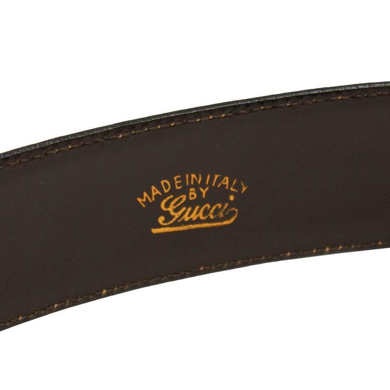 1970s Gucci Monogram Belt  4