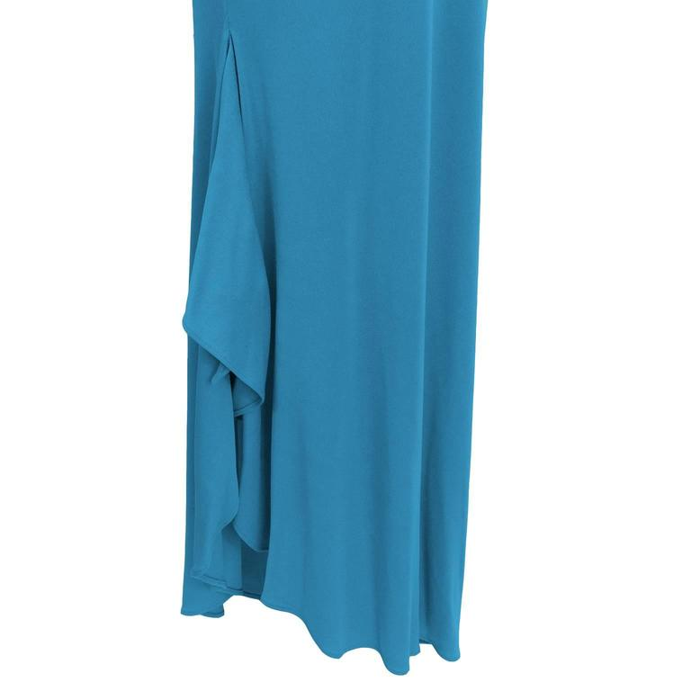 Women's 2000s Blue Marc Bouwer One Shoulder Gown  For Sale