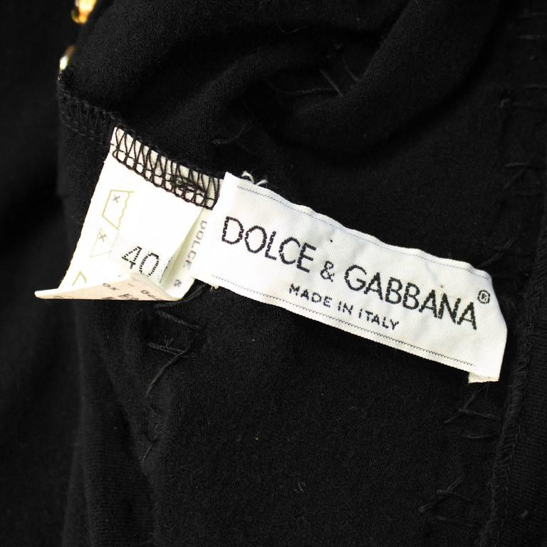 Women's 1980's Dolce and Gabanna Jeweled Leggings For Sale