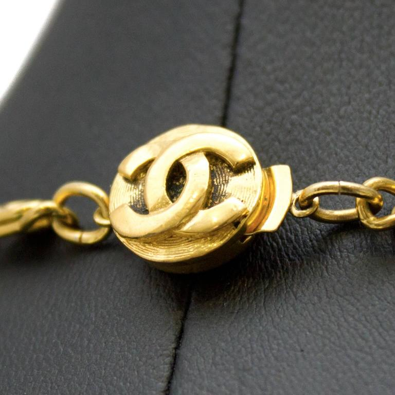 1980s Chanel Coin Necklace with Face Motif 4