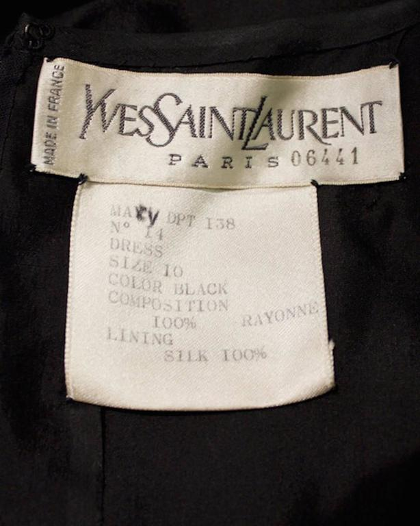 1980 S Yves Saint Laurent Ysl Red And Black Couture Label