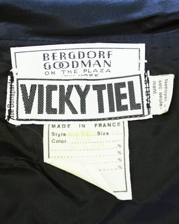 Women's 1980's Vicky Tiel Black strapless gown For Sale