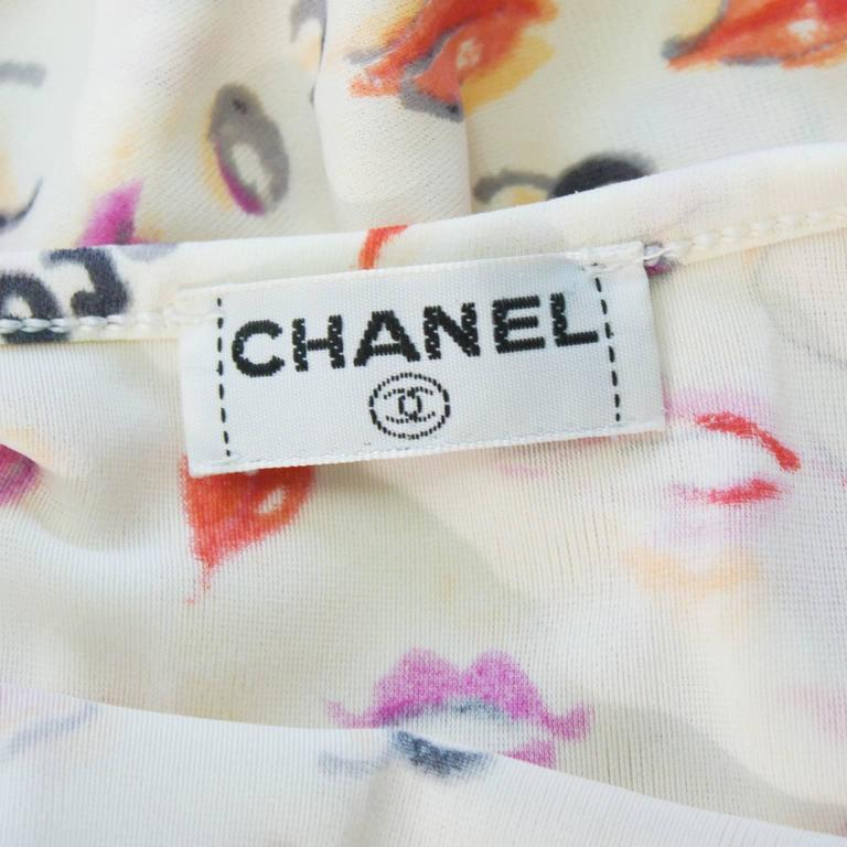 Women's 1990's Chanel Printed Crop Top For Sale