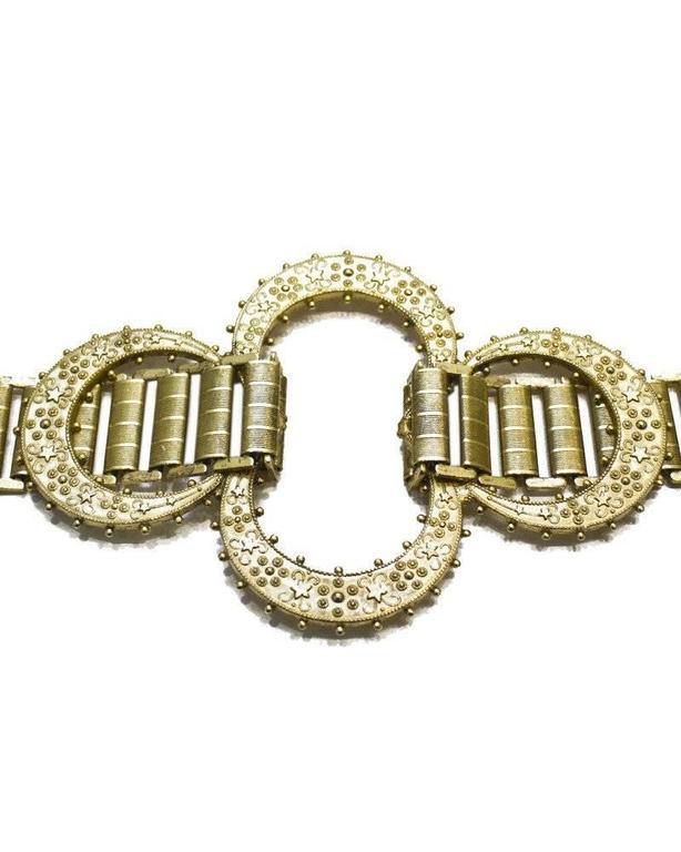 1960's MIddle Eastern Inspired Goldlink Belt 2
