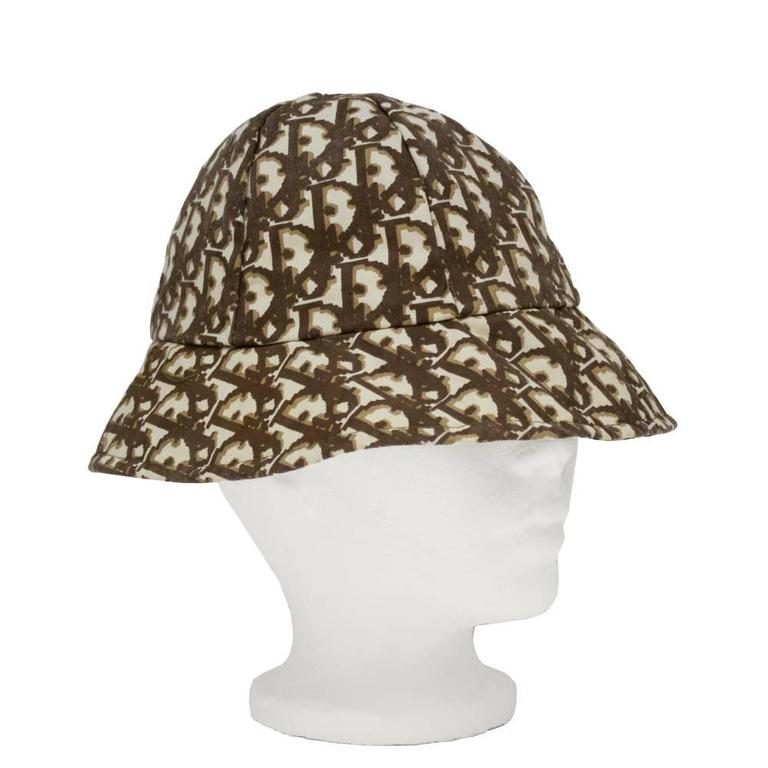 1970 s Christian Dior Brown Monogram Bucket Hat at 1stdibs 6abd3b0fa61