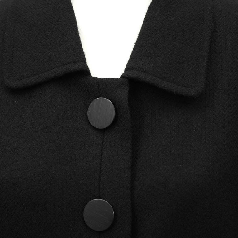 1980's YSL/Yves Saint Laurent Black Wool Blazer  4