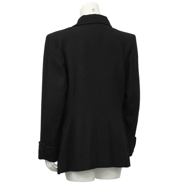 1980's YSL/Yves Saint Laurent Black Wool Blazer  3