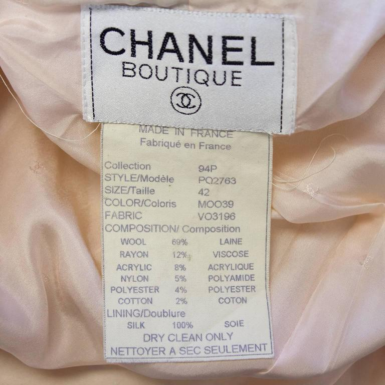 1994P Chanel Pastel Pink Multi-Color Boucle Cropped Jacket  5