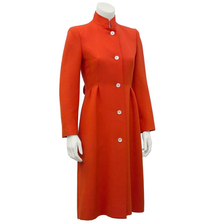 1970's The Room at Simpsons Deep Coral Coat  2