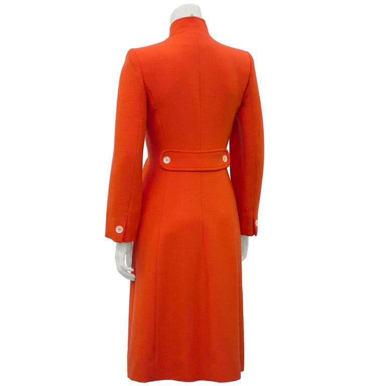 1970's The Room at Simpsons Deep Coral Coat  3