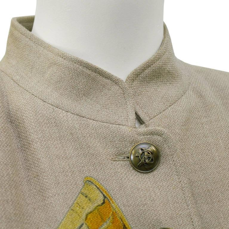 1980s Hermes Trompes de Chasse Wool & Cashmere Jacket 4