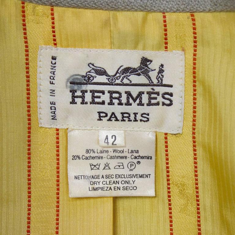 1980s Hermes Trompes de Chasse Wool & Cashmere Jacket 7