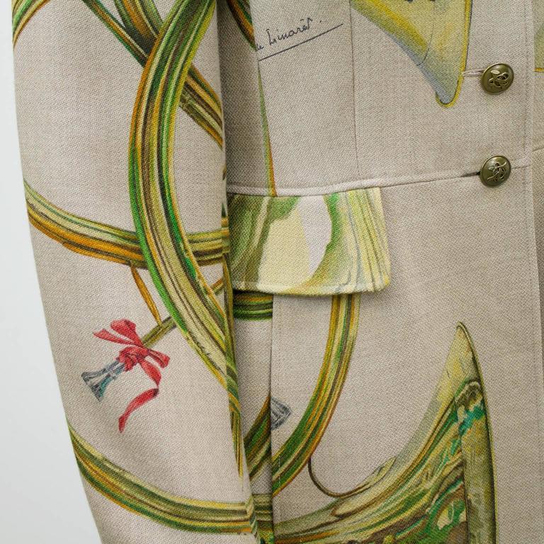 1980s Hermes Trompes de Chasse Wool & Cashmere Jacket 5