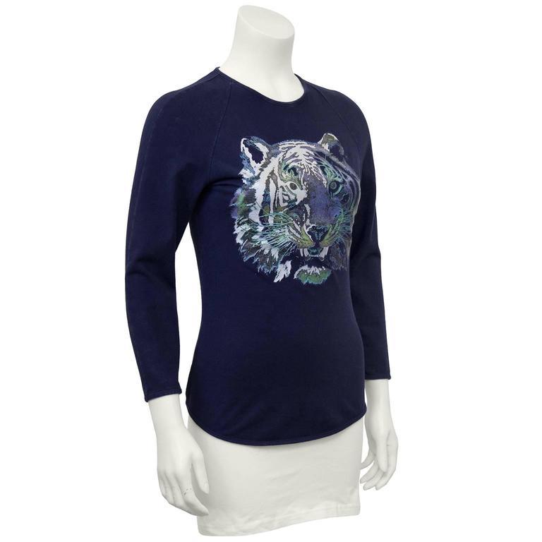 Circa 2000 Chloe Graphic Tiger Long Sleeve Shirt  2