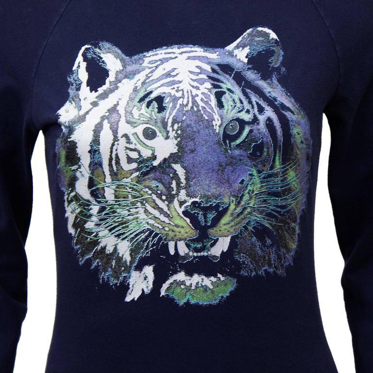 Circa 2000 Chloe Graphic Tiger Long Sleeve Shirt  4