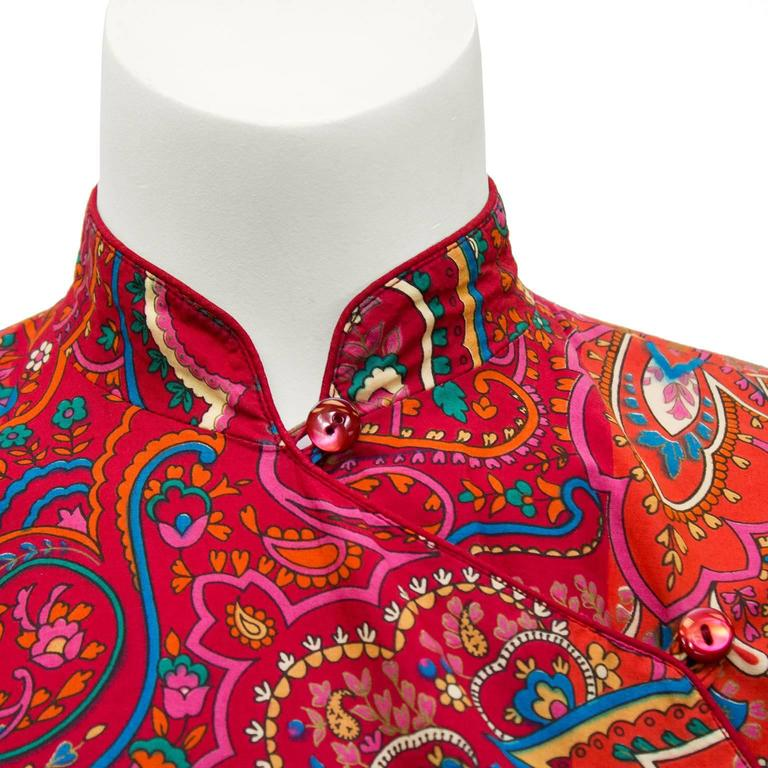 1970's Kenzo Paris Paisley Cotton Top and Skirt Ensemble  In Excellent Condition For Sale In Toronto, Ontario