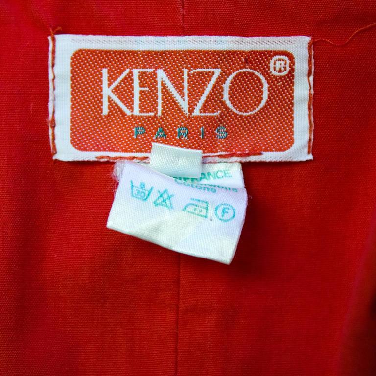 1970's Kenzo Paris Paisley Cotton Top and Skirt Ensemble  For Sale 2
