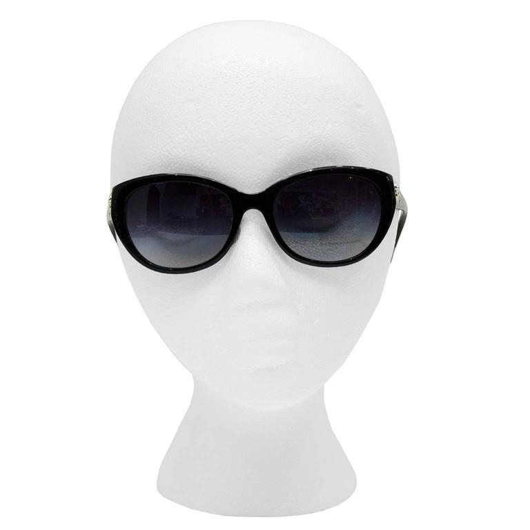 2000's Chanel Black Camelia Sunglasses  2