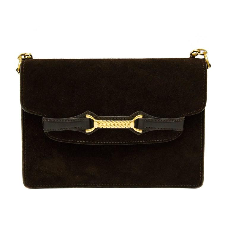 dcb2aa9c485d 1970s Gucci Brown Suede Bag For Sale at 1stdibs
