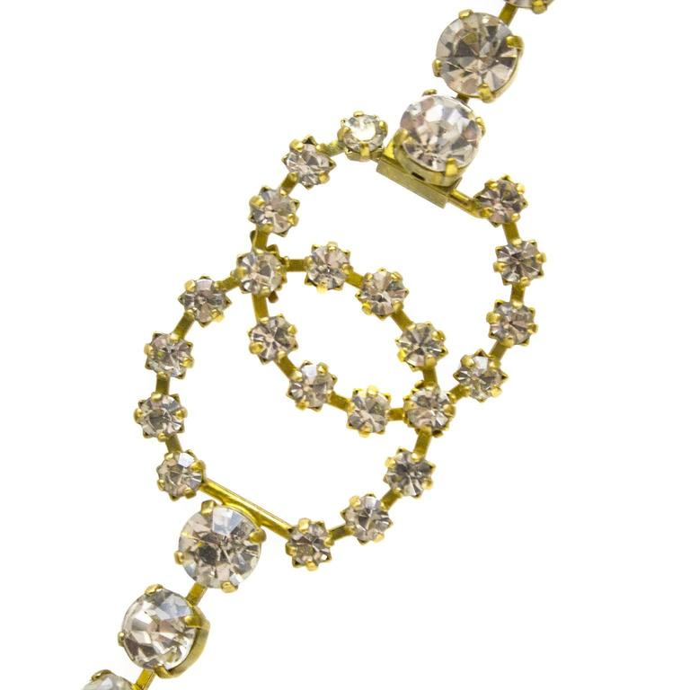 Spring 1995 Chanel Rhinestone CC Necklace/Belt 4