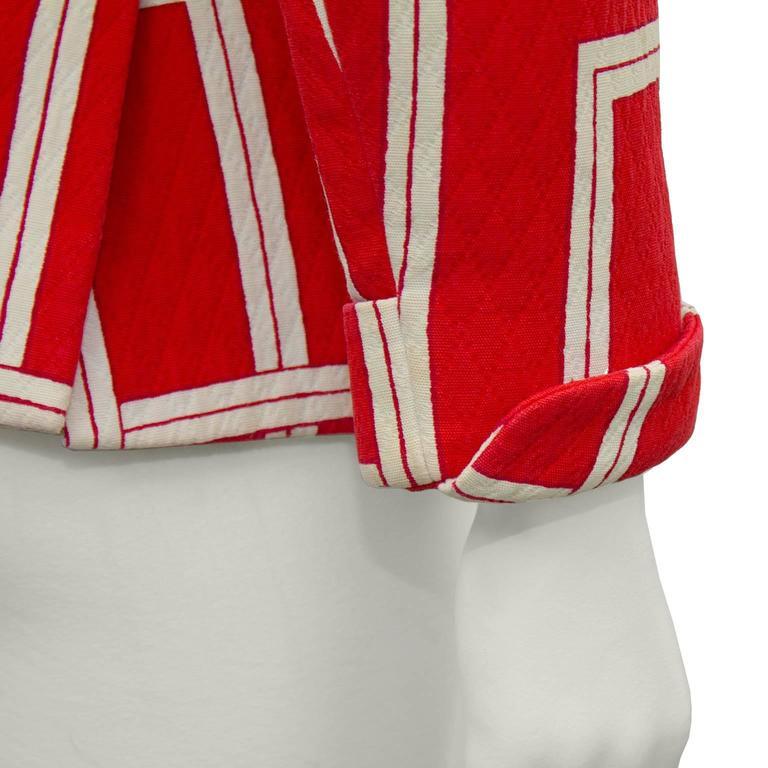 1970s Rudi Gernreich Orange and Cream Jacket  5