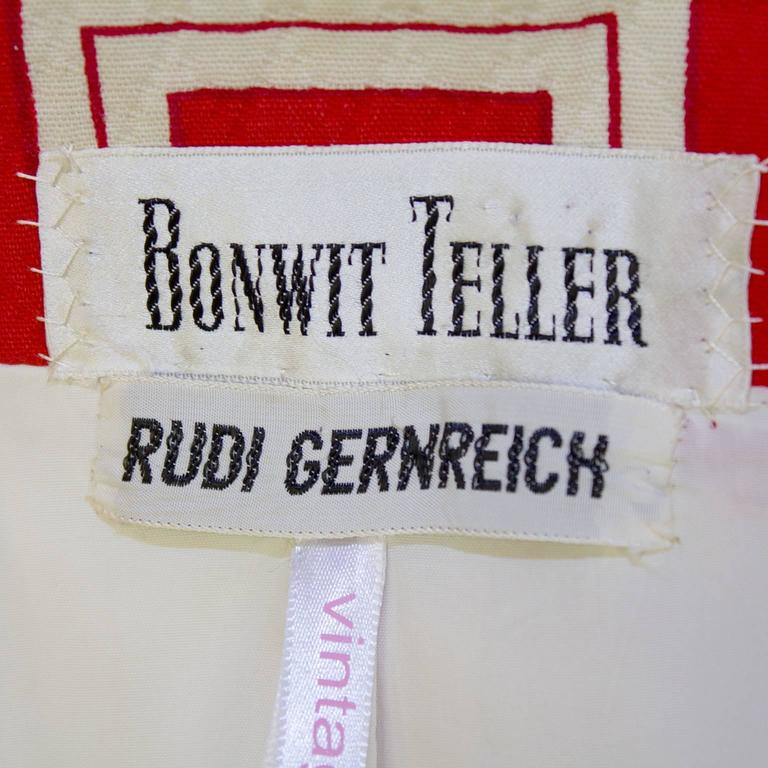 1970s Rudi Gernreich Orange and Cream Jacket  6