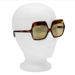 1960's Tortoiseshell Large Sunglasses