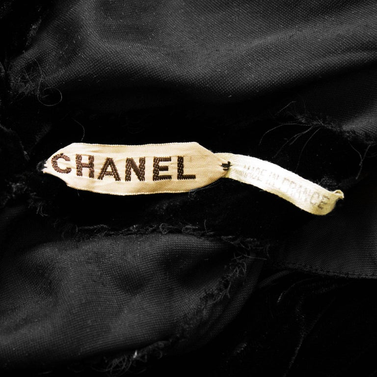 1930's Chanel Haute Couture Black Velvet Halter Gown 9