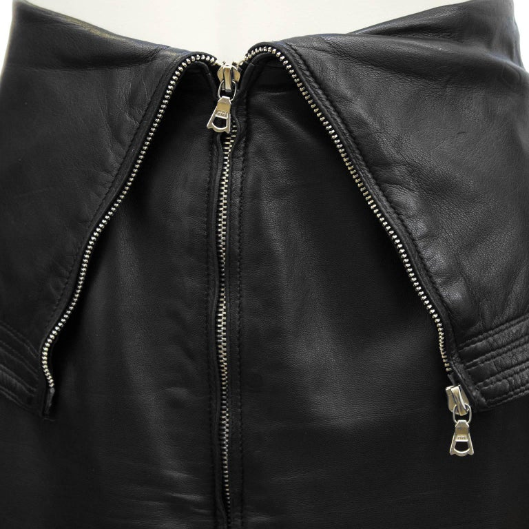 1980 s gianni versace black leather skirt for sale at 1stdibs