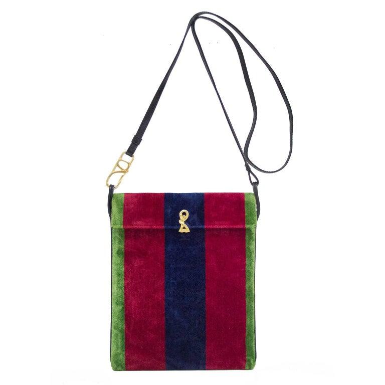 1970s Roberta Di Camerino Rectangle Velvet Crossbody Bag