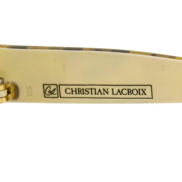 Women's 1980s Christian Lacroix Leopard Print Sunglasses  For Sale