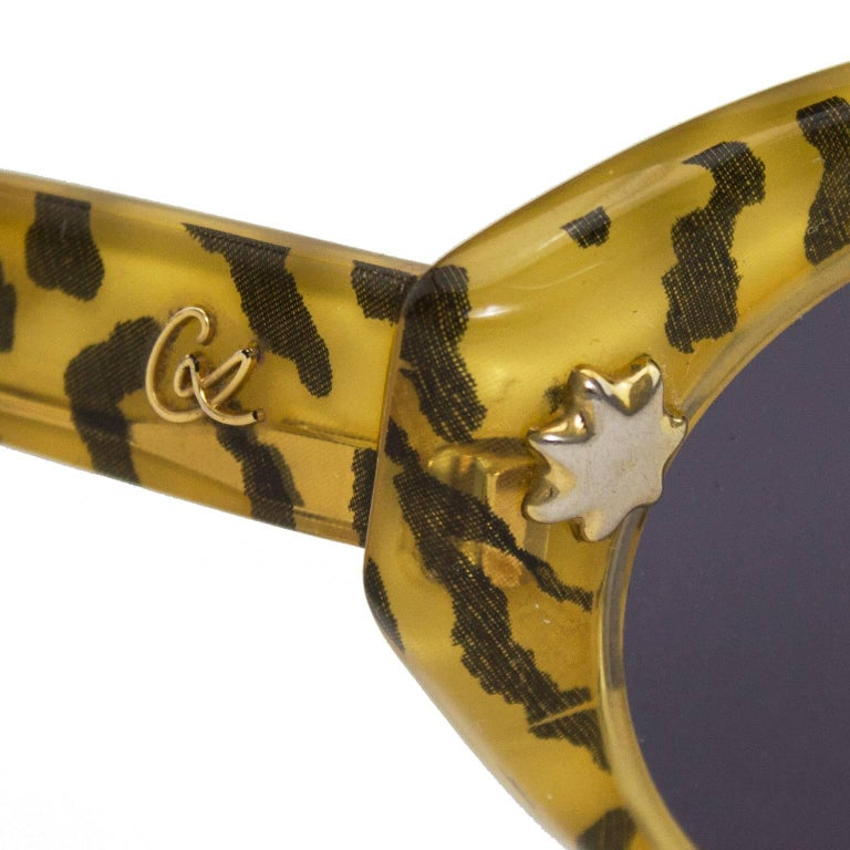 1980s Christian Lacroix Leopard Print Sunglasses  In Excellent Condition For Sale In Toronto, Ontario