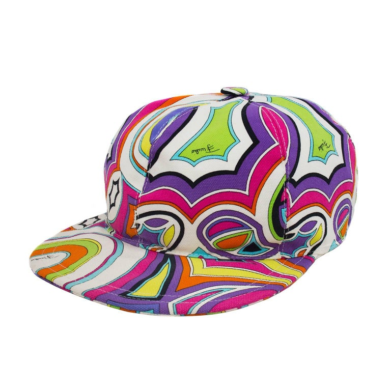 fde306d0a4c67 1990s Emilio Pucci Printed Baseball Cap For Sale at 1stdibs
