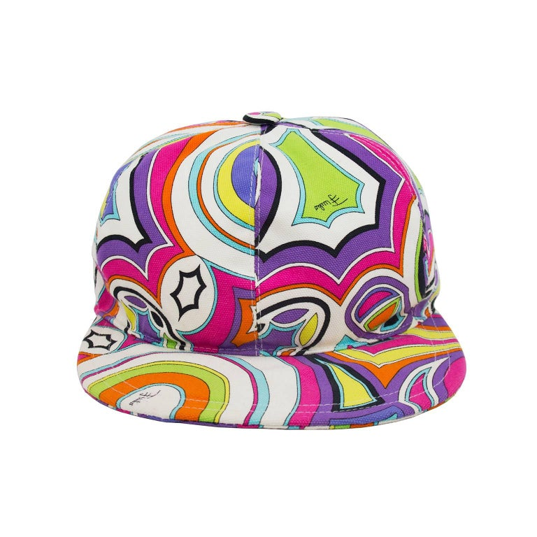b2f6c225ff1 Funky Emilio Pucci printed cotton six panel baseball cap from the 1990s.  Classic and iconic