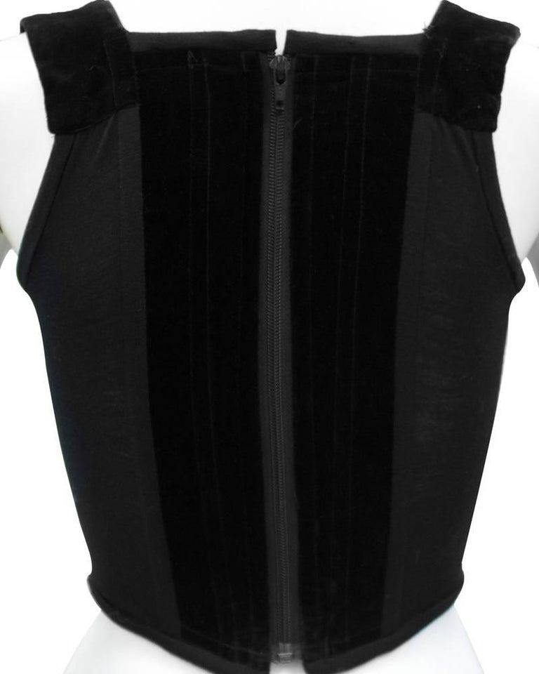 Women's 1980s Vivienne Westwood Black Velvet Bustier  For Sale