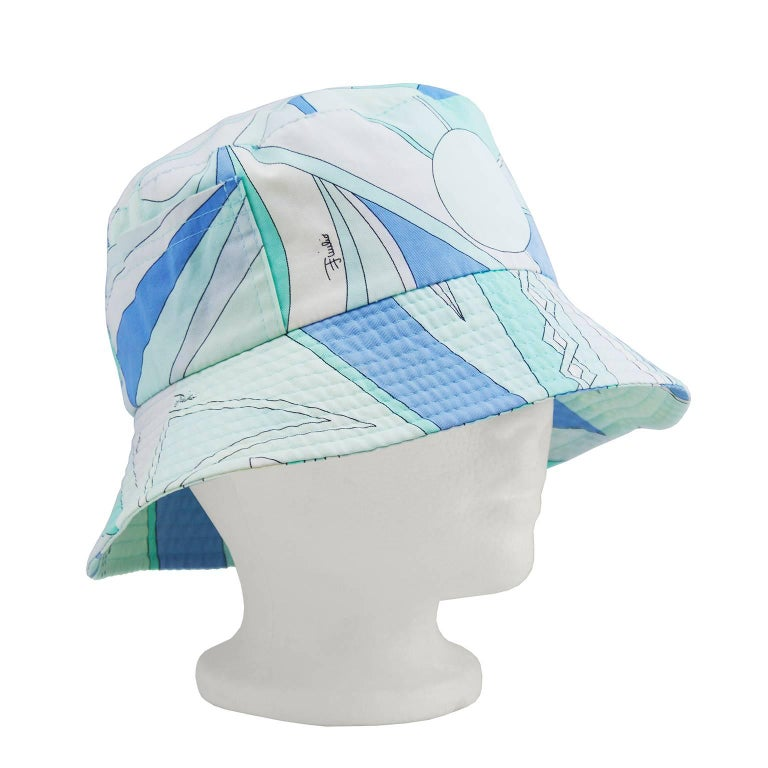 3c24029e6af Emilio Pucci Blue and Green Bucket Hat at 1stdibs