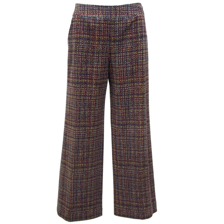1990s Chanel Wool, Cashmere Blend Trousers
