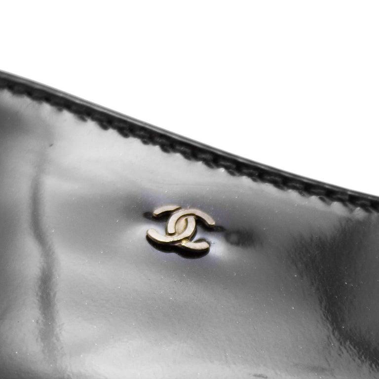 1990s Chanel Black Brogue Pumps For Sale 1