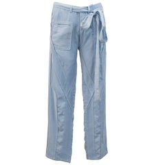 Balenciaga by Nicolas Ghesquière Blue Cotton and Corduroy Cargo Pants, S/S 2002