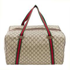 1970s Gucci Monogram Overnight Bag